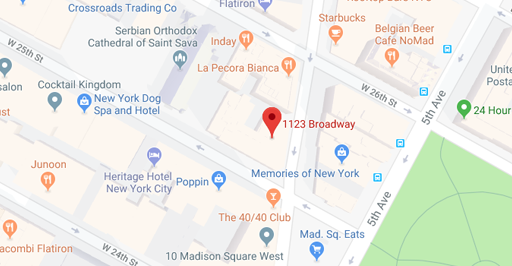 Map of 1123 Broadway, New York, NY 10010