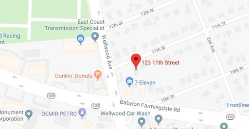 Map of 123 11th St, West Babylon, NY 11704