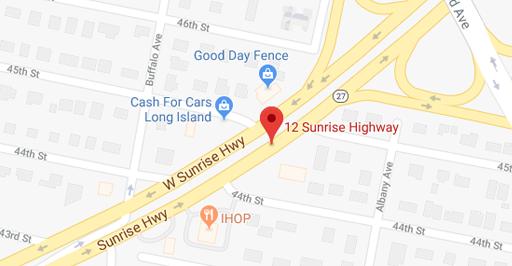 Map of 12 W Sunrise Hwy, Lindenhurst, NY 11757